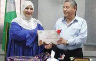 جمعية عطر الجنة تكرم الاستاذ طارق عطية مدير عام إدارة كرداسة التعليمية