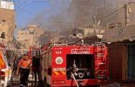 قتل فلسطيني وأصيب 10 آخرون في انفجار وقع بمبنى في سوق شعبي قديم وسط مدينة غزة