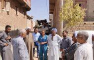 """رئيس مياه قنا يتابع شكوى المواطنين بـ""""كرم عمران"""" ويعد بخط جديد بطول 1000متر"""