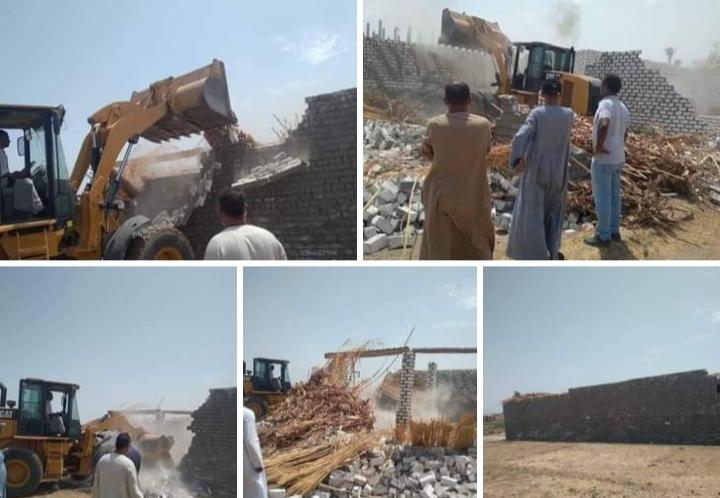 إزالات فورية تعدي علي أرضي زراعية بقنا في ثاني أيام عيد الأضحى المبارك