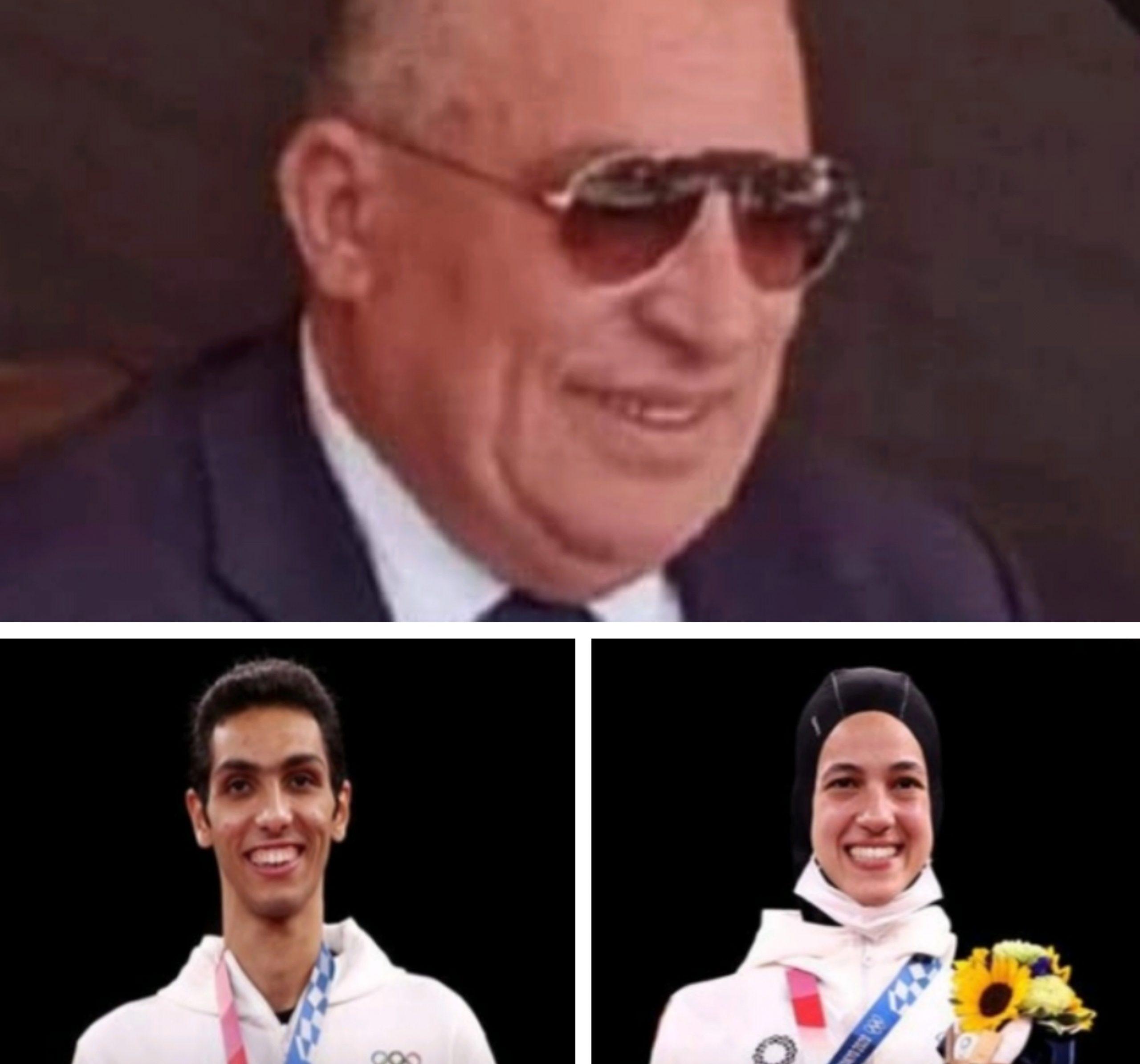 النائب خالد طايع يهنئ لاعبي التايكوندو هدايه ملاك وسيف عيسي
