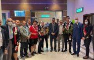 الشباب والرياضة تستقبل أبطال التايكوندو بمطار القاهرة