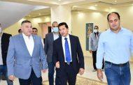 وزير الرياضة ومحافظ البحر الأحمر يتفقدان أعمال التطوير بالمدينة الشبابية بالغردقة.