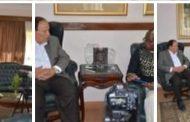 بالصور :تلفزيون أنجولا يجرى حوار مع الدكتور صديق عفيفى