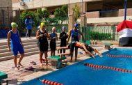 تصفيات بطولة إدارة العبور التعليمية للسباحة بنات في طيبة والإدارة تكرم قسم التربيه الرياضية بالمدرسة